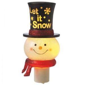 "Snowman ""Let it Snow"" Top Hat Night Light"
