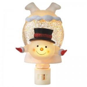 Snowman In Snowdrift Shimmer Night Light