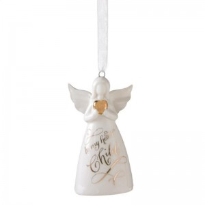 """""""In My Heart, Child"""" Angel Bell Ornament"""