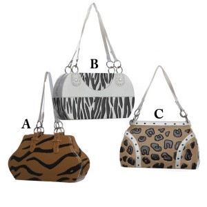 "3"" Fashion Avenue Animal Print Hand Bag Christmas Ornament"