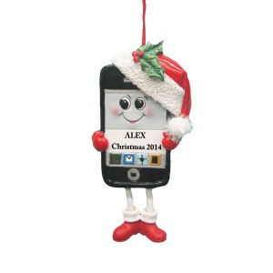 Cell Phone Christmas Ornament