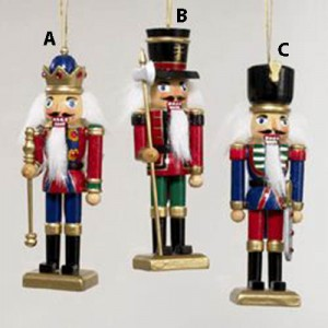 5 Inch  Wooden Nutcracker Ornament