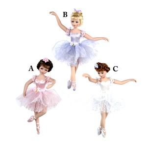 Color Porcelain Ballerina Ornament