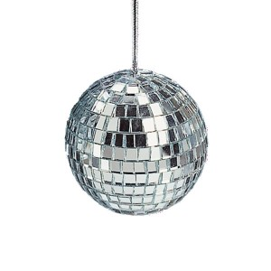 Mirrored Glass Disco Ball Christmas Ornament