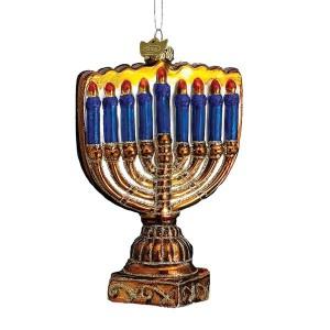 Glass Menorah Ornament