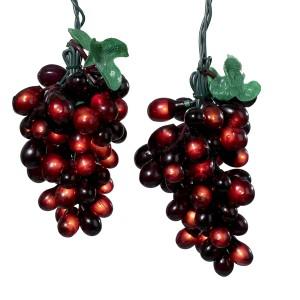 Wine Lovers Burgundy Grape Christmas Light Set