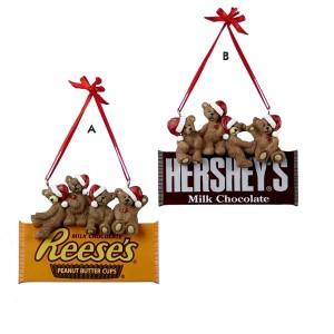 Hershey's Santa Bear Ornament