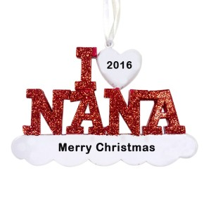 I Love Nana Personalized Christmas Ornament