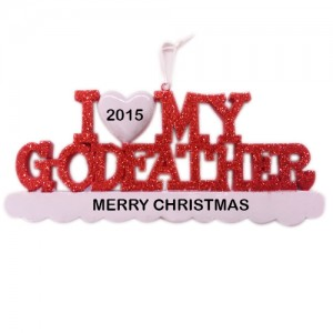 I Love My Godfather Personalized Christmas Ornament
