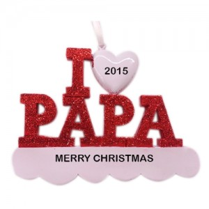 I Love Papa Personalized Christmas Ornament