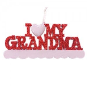 I Love My Grandma Personalized Christmas Ornament