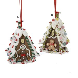 Claydough 3-D Gingerbread House Hanging Ornament