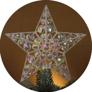 Lighted Iridescent Star Christmas Tree Topper