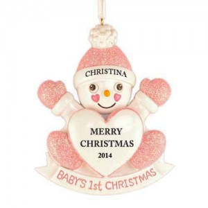 Snow Daughter Personalized Christmas Ornament