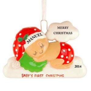 Sleeping On The Cloud Christmas Personalized Ornament