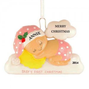 Sleeping On The Cloud Girl Personalized Christmas Ornament