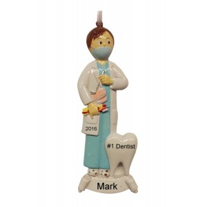 Dentist Boy Personalized Christmas Ornament