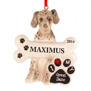 Great Dane Dog Personalized Christmas Ornament