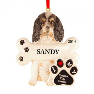 Cavalier King Charles Spanish Dog Personalized Christmas Ornament