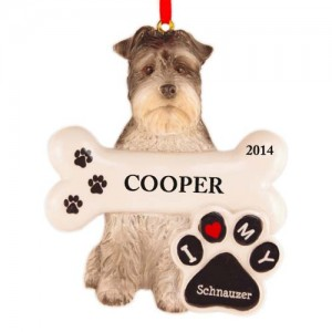 Schnauzer Dog Personalized Christmas Ornament