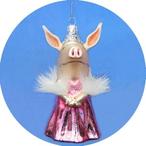 Olivia the Pig Pink Dress Ornament