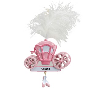 Princess Carriage   Personalized Ornament