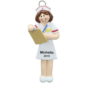 Nurse Brown Personalized Christmas Ornament