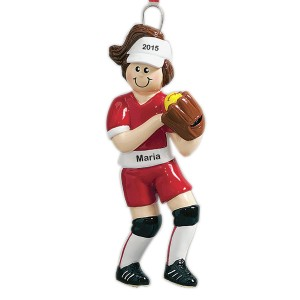 Football Girl Personalized Christmas Ornament