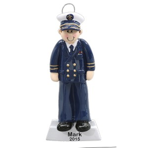 Navy Officer Personalized Christmas Ornament