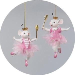 Ballerina Mouse Christmas Ornament