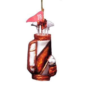 Glass Golf Bag Christmas Ornament