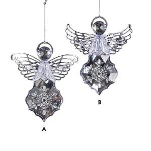 Acrylic Silver Angel Ornament
