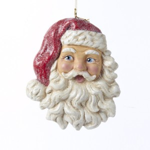 Retro Style Santa Head Ornament
