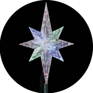 """11"""" Lighted LED Color Changing Star Christmas Tree Topper"""