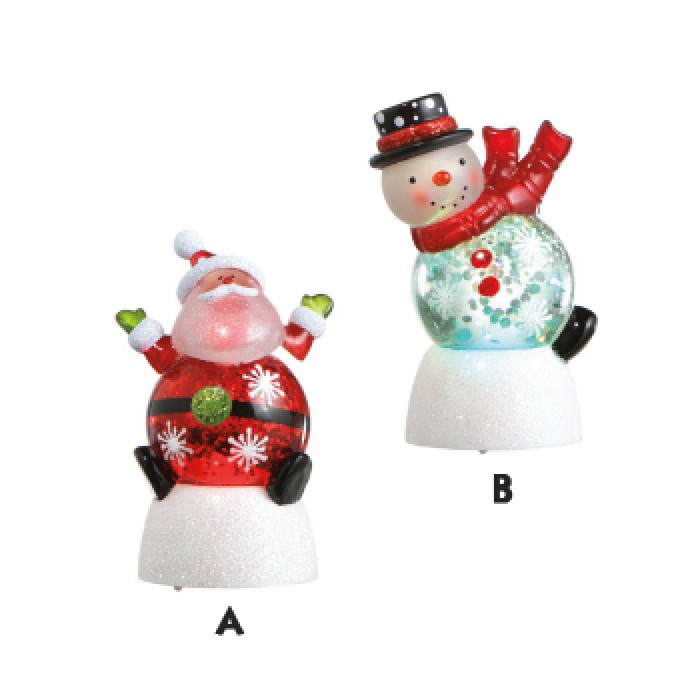 Lighted Santa & Snowman Mini Shimmer