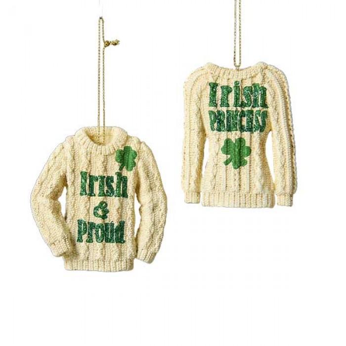 Irish Knit Sweater Christmas Ornament - Christmas and City