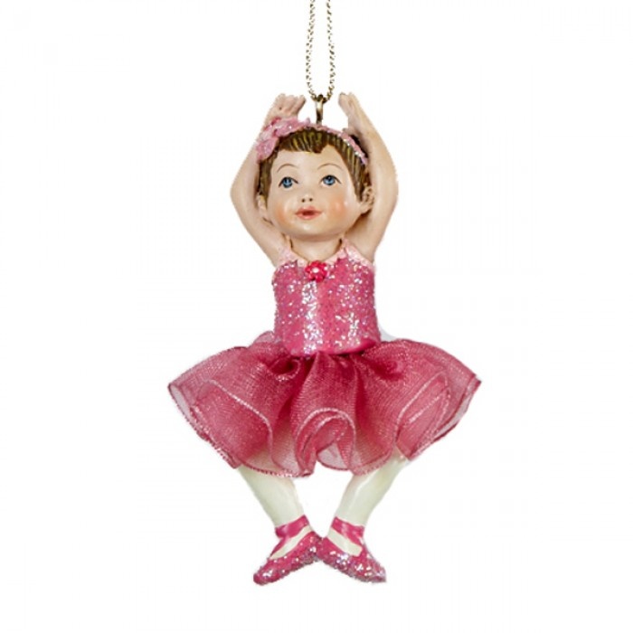 Little girl ballerina christmas ornament christmas and city for Ballet shoes christmas decoration