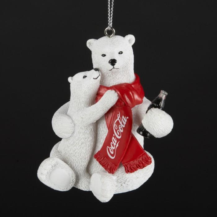 Polar Bear and Cub Drinking Coca-Cola Christmas Ornament ...