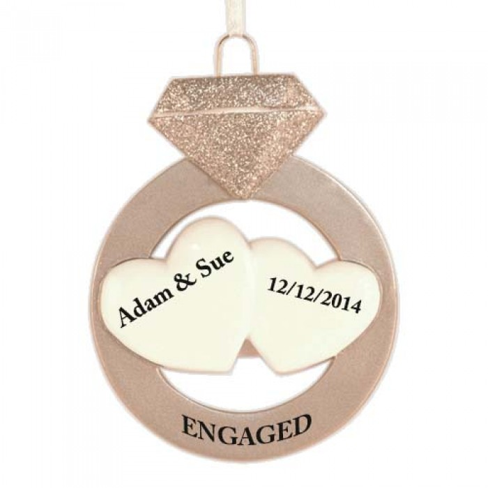 Engagement Personalized Christmas Ornament - Christmas and ...