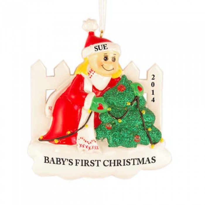 Decoration girl personalized christmas ornament for Christmas ornaments clearance