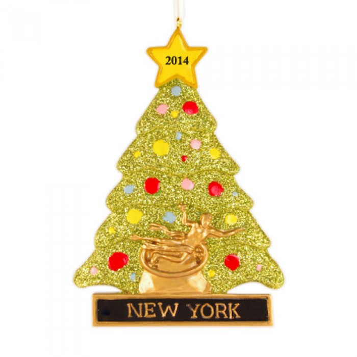Rockefeller tree personalized christmas ornament for Custom christmas tree ornaments
