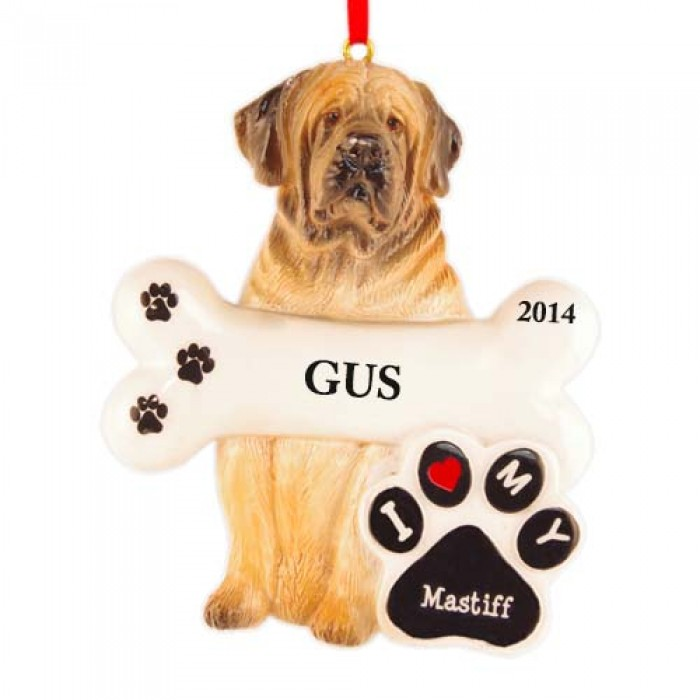 Mastiff Dog Personalized Christmas Ornament - Christmas ...