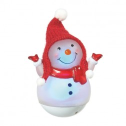 Lighted Roly Poly Mini Snowman