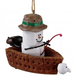 S'mores in Fishing Boat Ornament