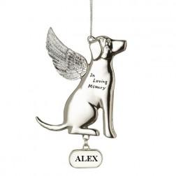 Memorial Dog Personalized Christmas Ornament