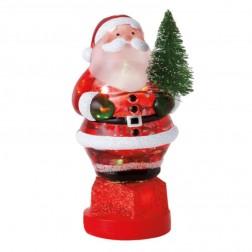 Santa Holding Tree Medium Shimmer Light