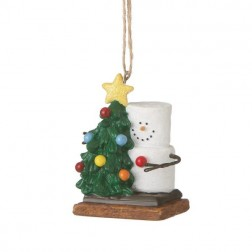 S'mores Snowman with Christmas Tree Ornament