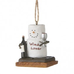 "S'mores ""Wine Lover"" Ornament"