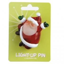 Santa Light Up Pin Acrylic Jewelry