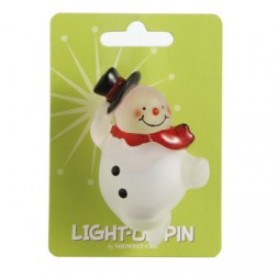 Snowman Light Up Pin Acrylic Jewelry